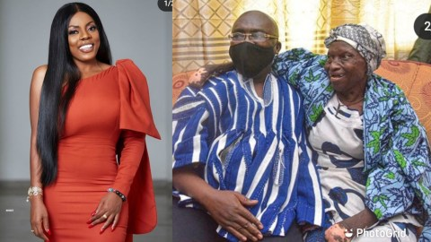 Nana Aba Anamoah Reacts To Dr Bawumia's Benovolent Act Towards An Old Woman (See What She Said)
