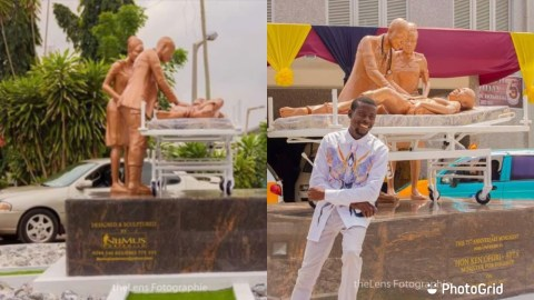 (+VIDEO) Meet Mustapha Dimson, The Young Creative Man Behind The Popular 37 Military Hospital Sculpture