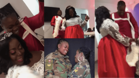 Military woman who got married to lesbian partner detained and facing a court-martial