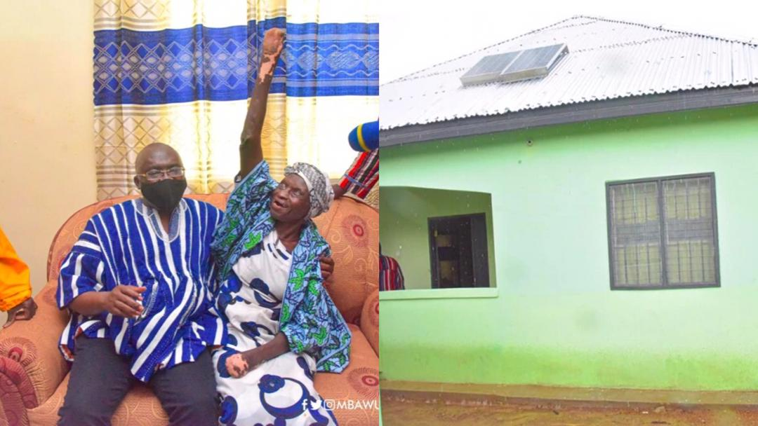 Vice President Bawumia hands over a fully-furnished two-bedroom house to a poor abandoned 82-year-old woman