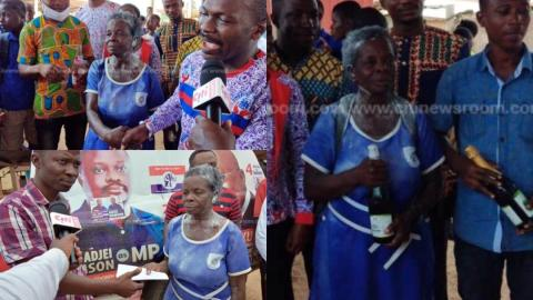 """I want to further my education to the SHS level"" – 60-year-old woman hailed and celebrated after successfully writing her BECE"