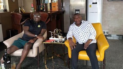 Check Out Photos Of Bola Ray And Osei Kwame Despite's Brother As They Hangout In His Expensive Mansion