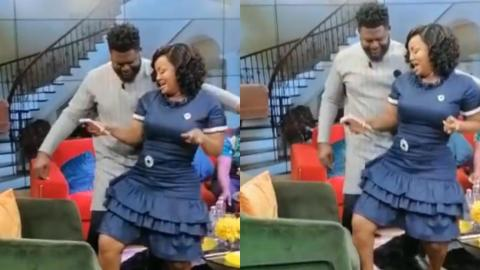 Nana Ama McBrown Causes Bulldog To Be Confused After She Gave Him A Wild Grind