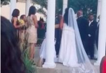 Woman Storms Wedding