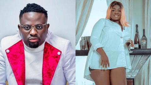 Brother Sammy gives Tracey Boakye romantic treat, massages her legs and feet in new video