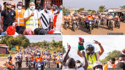 NDC's Okudzeto Ablakwa accompanied by hundreds of 'Okada' riders as he files his nomination