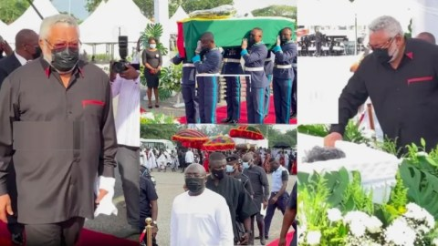 Videos from the burial ceremony of Victoria Agbotui late mother of J.J Rawlings