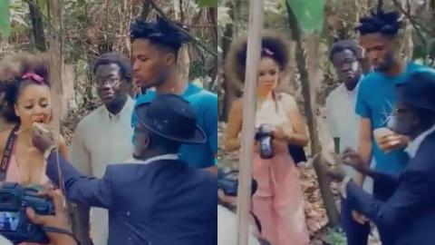 Sister Derby And Kwesi Arthur Enjoy Their Time On Set With Lil Win Shooting His Upcoming Series