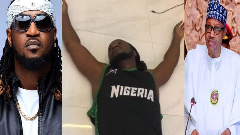 Video: Rudeboy Collapses After Buhari's Speech- See Reaction From Destiny Etiko