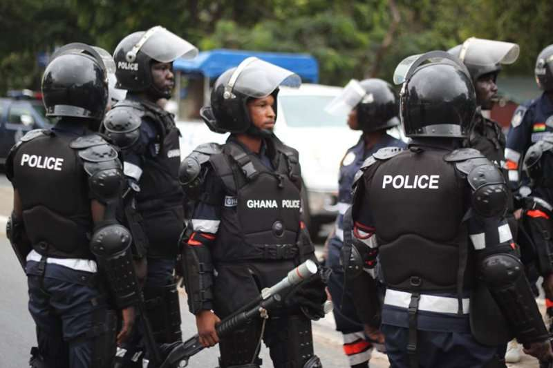 Police arrests 150 suspected criminals at 'The Event Hub' in Accra [Photos]