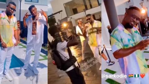 Sarkodie And Zlatan Get Fans 'Fired Up' As They Shoot A Video For Their New Record