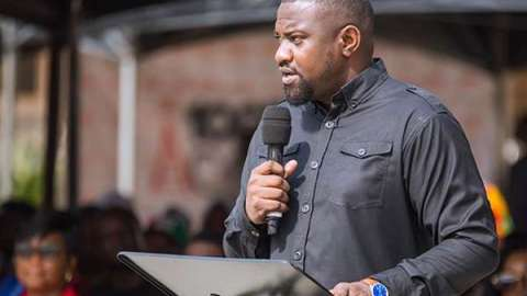 Ghana Election 2020: John Dumelo Cries Foul, Asks Voting At GIMPA Polling Station To Be Halted Immediately For This Reason