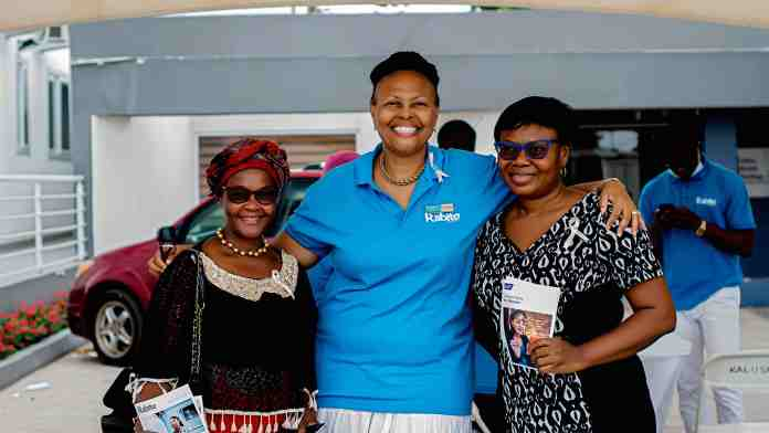 Karen Hendrickson, CEO of Rabito Clinic with some of the participants