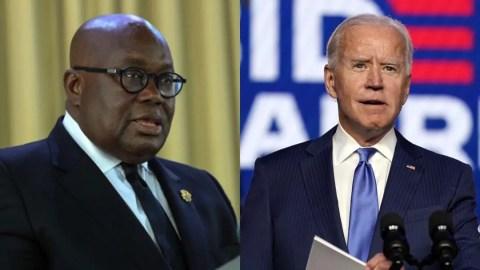 Your tenure of office will be marked by progress and prosperity – Prez. Akufo-Addo congratulates Joe Biden