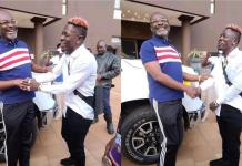 Shatta Wale shows special respect to Kennedy Agyapong when the two met in Kumerica [Video]
