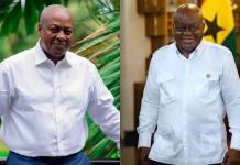 Election 2020: Akufo-Addo beats Mahama in a new survey by the University of Ghana [Details]