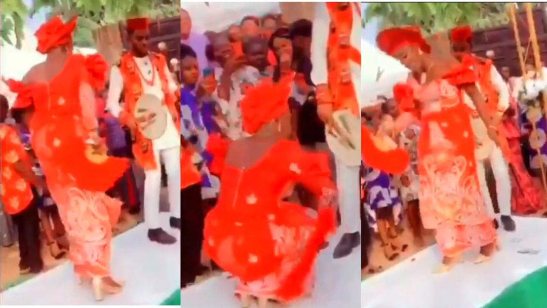 Bride surprises husband and guests with the craziest dance moves ever at their wedding [Video]