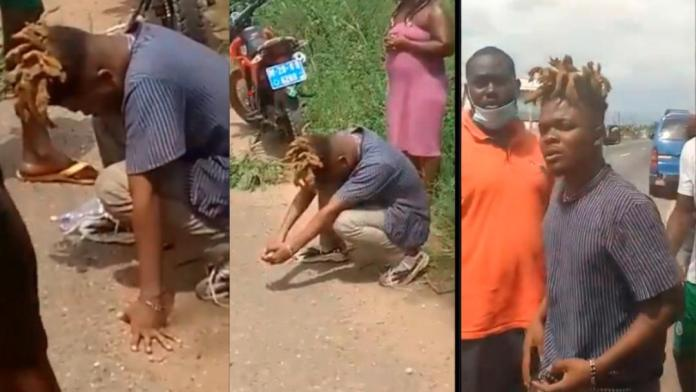 Moment Quamina MP knelt down in tears after having swerved an untimely death