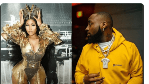Nicki Minaj 'Bigs Up Davido By Sharing The Cover Art For Their Collaboration 'Holy Ground'