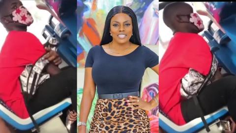 Nana Aba Anamoah Reacts To Guy Caught On Camera Filming A Lady's Downside In A Public Transport