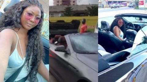 Video: Salma Mumin And 'Husband' Spotted Cruising In Town In Their Expensive Convertible Cars