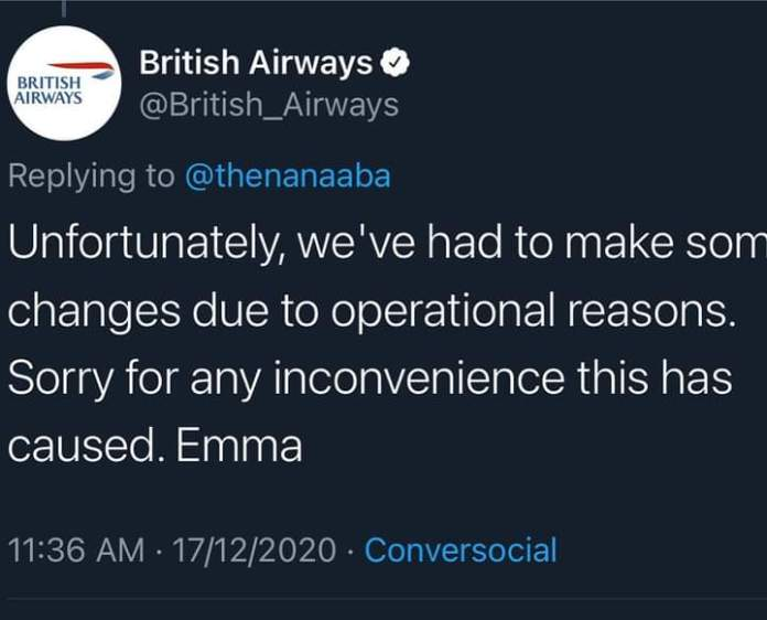 Nana Aba Anamoah Calls Out British Airways Over Their Poor Service Delivery – Full Gist