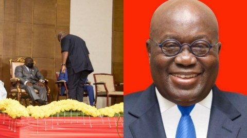Mahama Shows Respect To Nana Addo By Bowing To Him When They Met  At A Peace Pact Ceremony (Full Gist)