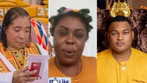 """(+VIDEO) """" An Old Wretched Woman Who Can't Manufacture Toothpick"""" – Sarfo Kantanka's Grandchildren Blasts Afia Schwarzenegger For Disrespecting Him"""
