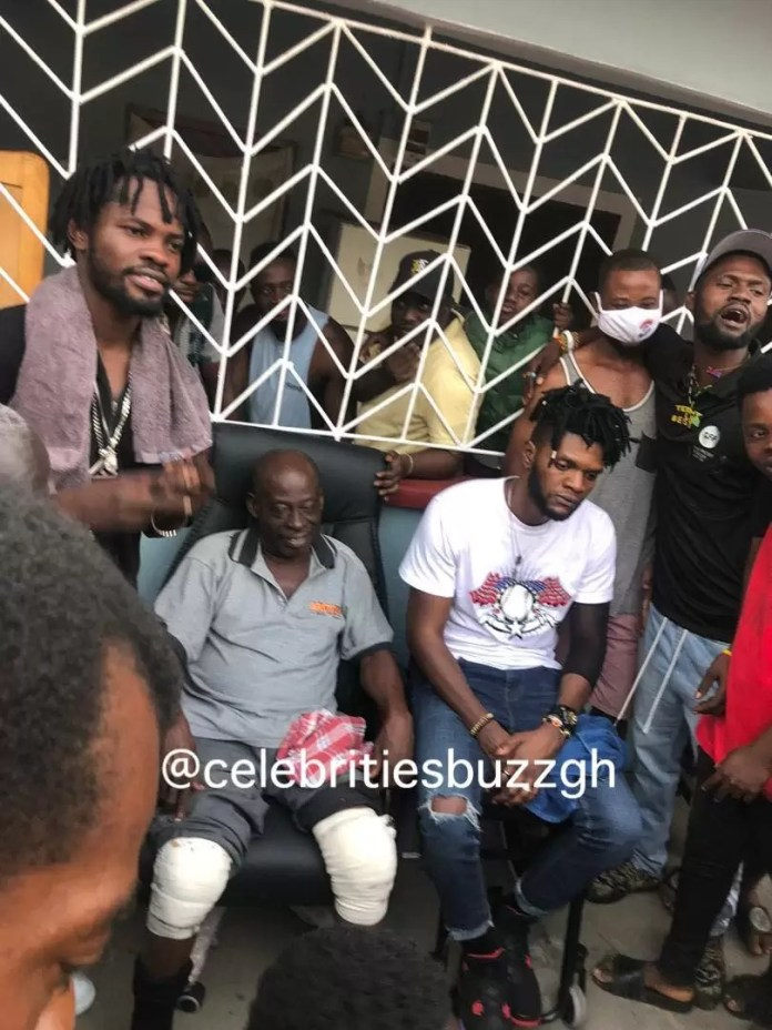 Fameye and former boss, Ogidi Brown face-off at Antoa; tells elders plans to pay the $50,000 4