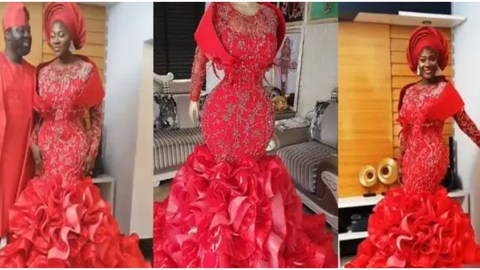 Mercy Johnson And Family Cause Serious Traffic Online After They Stunned In Matching Outfit