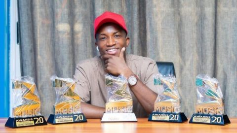 'Gold Nkoaa'- Kofi Kinaata Expresses Happiness After He Finally Received His 3Music Awards