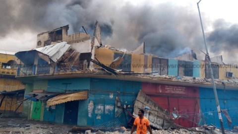 Another Fire Outbreak: Fire Razes Down Several Shops At Aboabo Station, Ashanti Region