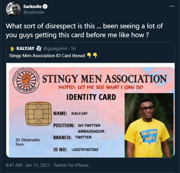'Stingy' Sarkodie joins Stingy Men Association; says he needs to be the CEO