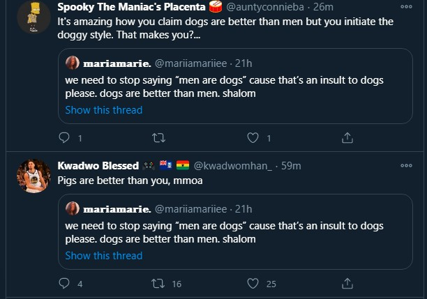 """""""Dogs are even better than men"""" – Lady, Marie 'respectfully' insults men 6"""