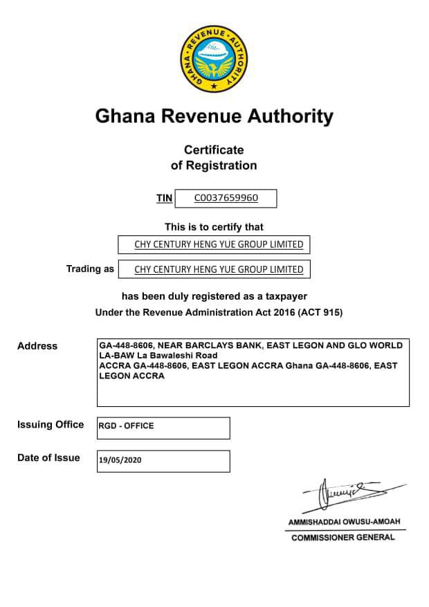 Exclusive: Government Documents & Licenses Issued To Chy Mall By Government 1