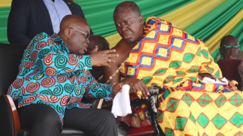 """Your good people saved me from defeat so massive infrastructural projects in Ashanti region"" – Akufo Addo tells Otumfour"