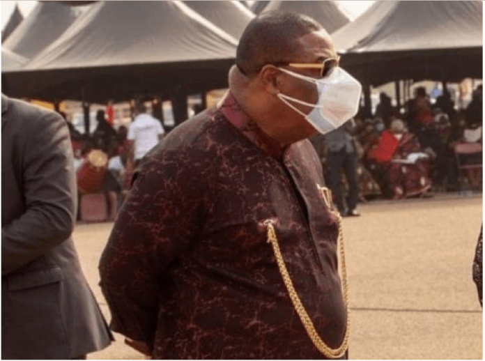 Archbishop Duncan Williams wearing two face masks