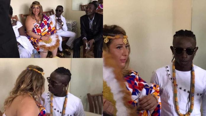 First photos from Patapaa's traditional marriage to German girlfriend Liha Miller