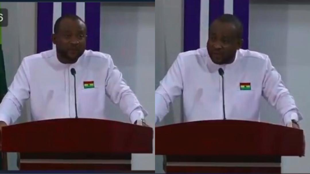 """""""Acloss the grobe"""" - Ghanaians troll Deputy Info Minister Pius Hadzide over English blunder on live TV [Video]"""