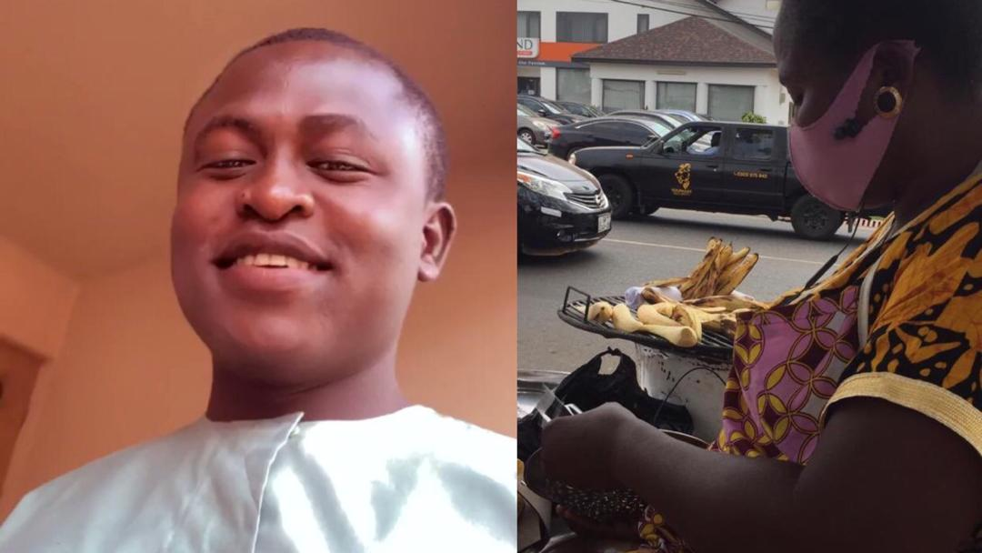 """""""Please buy roasted plantain from my mother"""" – Gentleman advertises mum's business on social media"""