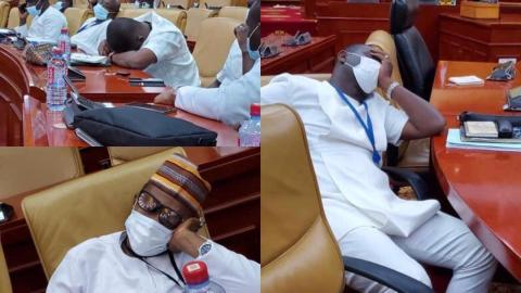 NPP MPs doze off in parliament after arriving as early as 4 am to occupy majority seats