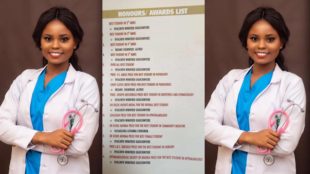 Winifred Haycinth: Meet The Medical Student Who Bagged 12 Out Of 14 Awards At Her Induction Ceremony