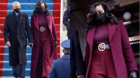 Michelle Obama turns heads with her elegant red outfit at Biden-Harris inauguration [Photos]