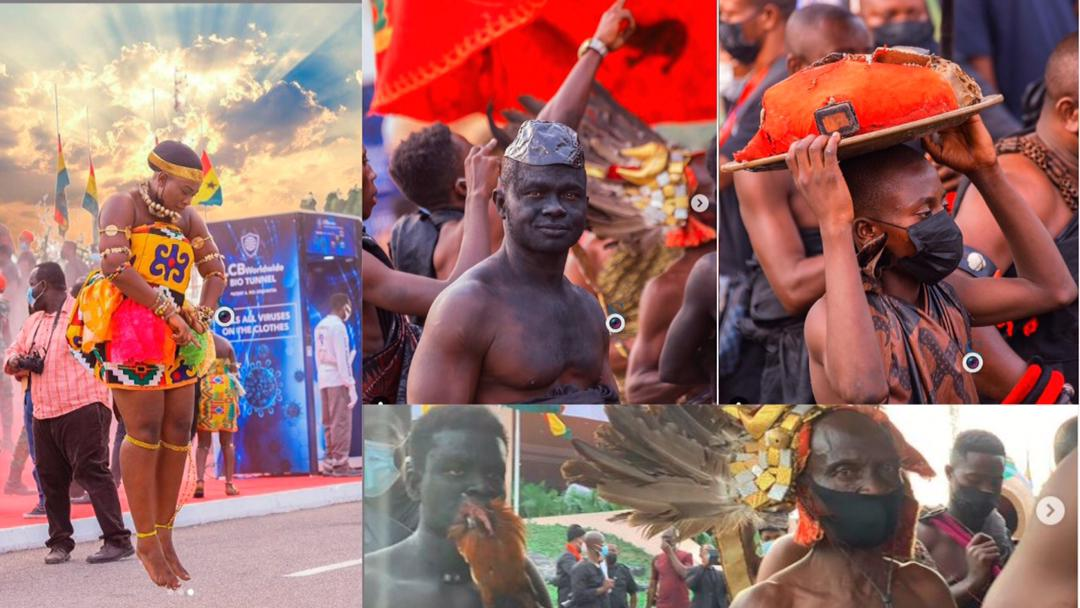 Rich traditional photos of Ghanaian culture at display at Rawlings funeral