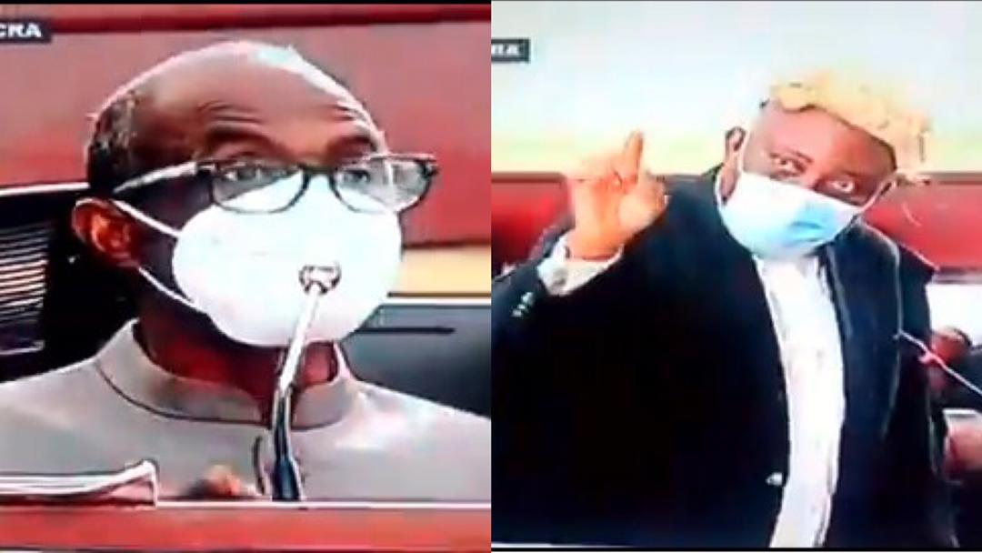 """""""Answer the questions, don't lecture me"""" – Lawyer Akoto Ampaw loses his cool following Aseidu Nketiah's witty way of answering questions in court [Video]"""
