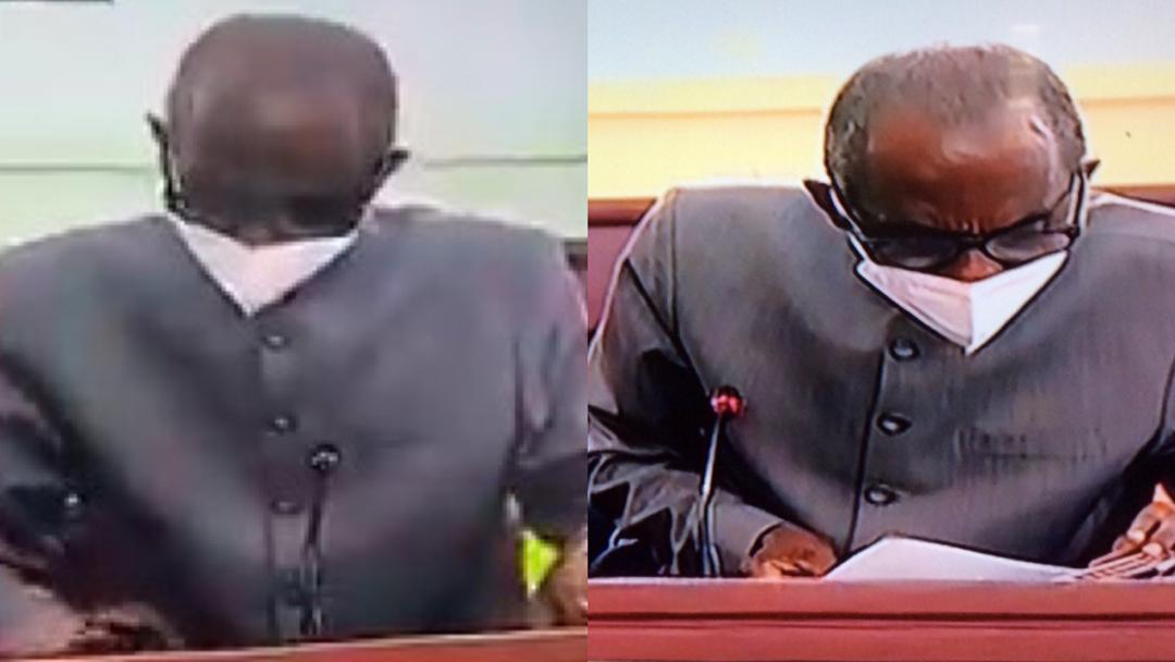 Aseidu Nketiah aka General Mosquito had to imitate a tax collector today in court when he went with a huge calculator.