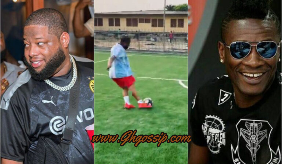 D-Black Shows His Football Skills After He Scored Beautiful Penalty During  Training, See What He Told Asamoah Gyan After That (+Video) » GhBase•com™