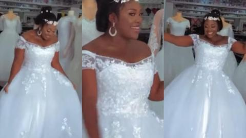Emelia Brobey Gives A Stunning Wedding Look As She Rocks An Elegant Wedding Gown (video)
