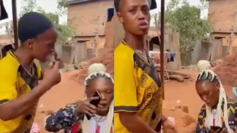 Video: Nigerian Lady Beats Up Her Friend Mercilessly For Telling Her Boyfriend That She's Cheating On Him