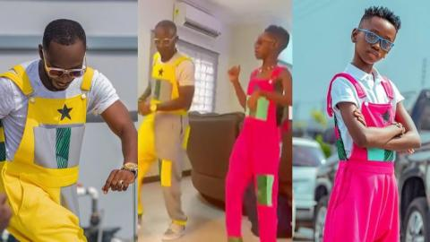 Celebrities And Fans React To Adorable Video Of Okyeame Kwame And Son Dancing Together